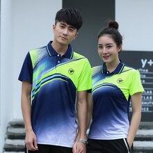 Новая быстросохнущая одежда для бадминтона рубашка для мужчин/женщин, спортивная одежда для бадминтона, рубашка для настольного тенниса, теннисная футболка AY100