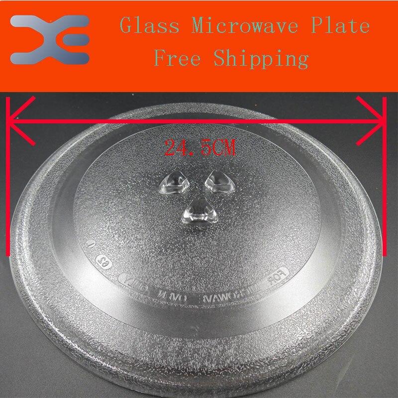 Haute qualité verre micro-ondes plaque de verre rotatif plaque pivotante plat palette Y - Type diamètre de la Base 24.5 MMMicrowave four pièces