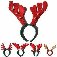 12 pz/lotto cerchio dei capelli Di Natale Natal dei bambini della fascia corna testa fibbia testa ornamenti corna d'alce vestire puntelli corna