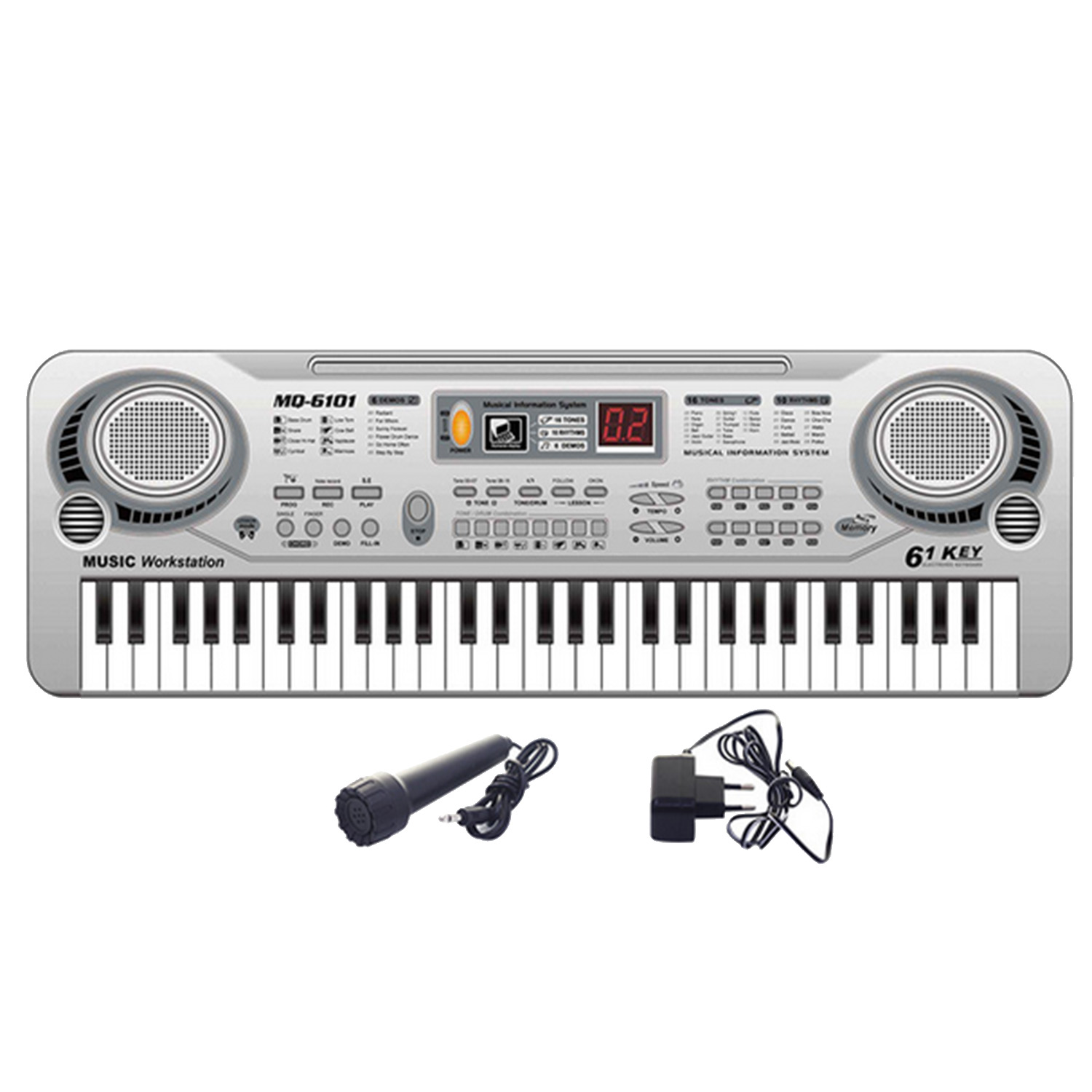 Children Kids 61-Key Music Electronic Keyboard Toy Piano Educational Electone Toy with Microphone 11 key electronic music box piano toy red 3 x aa
