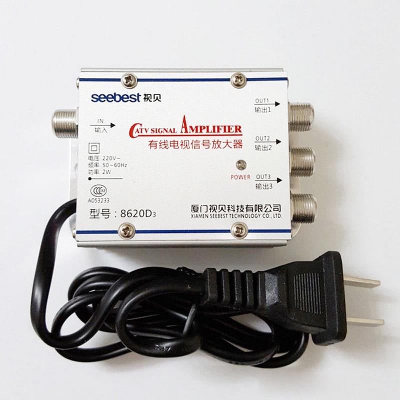 1 Set 1 En 3 CATV TV Antenne Signal Amplificateur Kits Professionnel CATV Signal Booster Splitter 20dB 45-860 MHz Mayitr