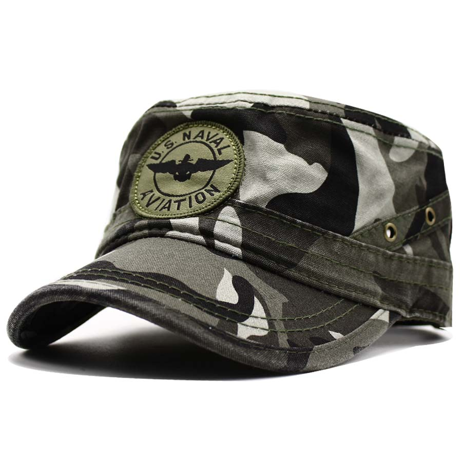 d2a95d02666 LIBERWOOD U.S. Navy Naval Aviation Ball Cap Baseball Cap Hat Pilot Wings Hat  Cotton Flat Top Men Women Tactical camo hat