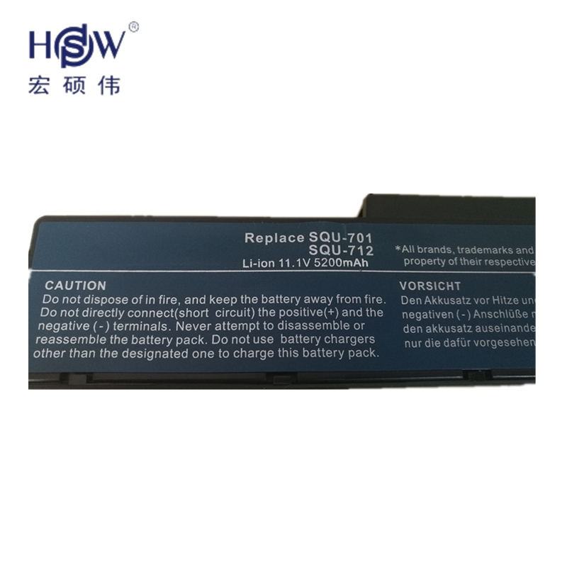 HSW rechargeable laptop battery forBENQ A52 A52 114 A52E A52E 111 A52E 104 A52E 107 A53 A53E R43 R56 Q41 C41 C41E bateria akku in Laptop Batteries from Computer Office