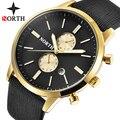 Мужские часы NORTH, Роскошные Кварцевые Золотые часы от ведущего бренда, мужские повседневные кожаные военные водонепроницаемые спортивные н...
