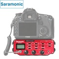 Saramonic SR-AX107 XLR Микрофон Audio Mixer Адаптер Предусилитель Фантомного Питания для DSLR Canon Nikon Sony Видеокамеры