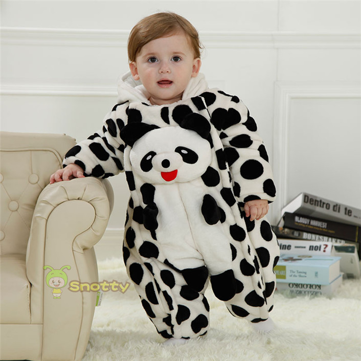 Winter Boy Romper Panda Model Baby Snow Suits 5 32 Months Christmas