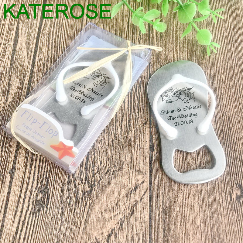 997573f67347 Detail Feedback Questions about 96PCS Personalized Flip Flop Bottle Opener  in Gift Box Beach Wedding Favors Bomboniere Customized White Thong Bottle  Openers ...