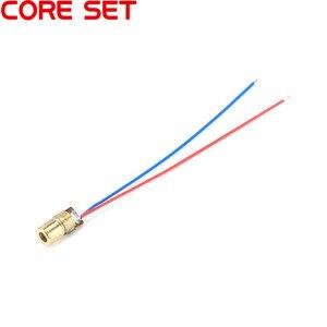 Image 2 - 10pcs Laser Diode Red Point Adjustable Laser Dot Diode Module Red Copper Head 650nm 6mm 3/5V 5mW