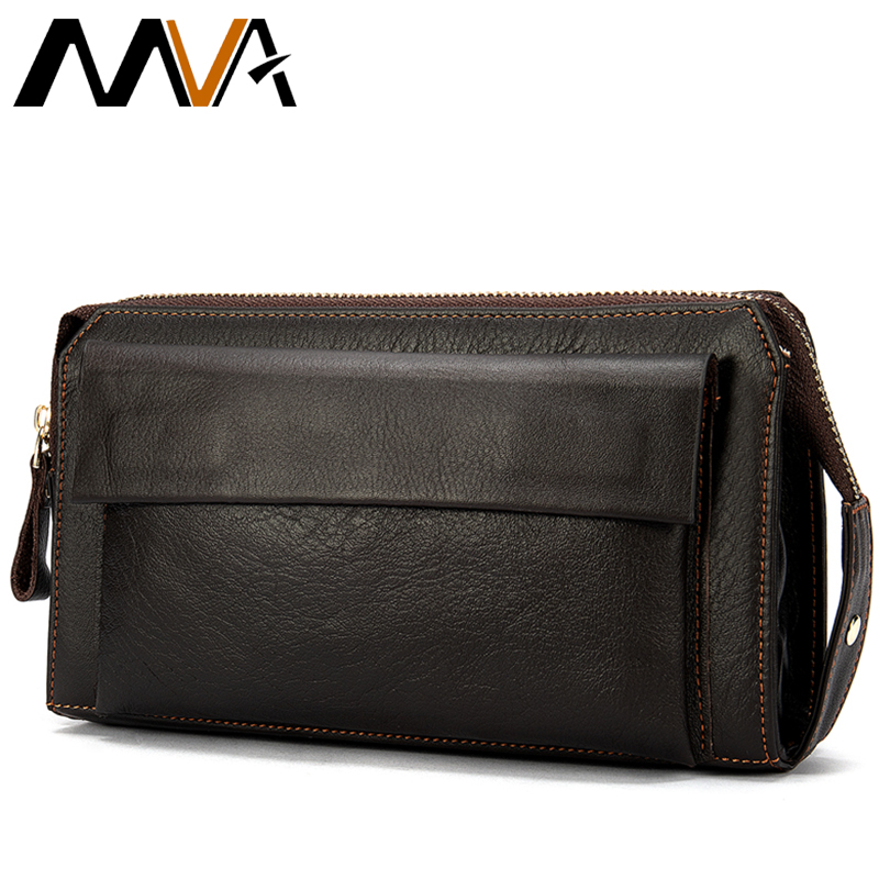 Multifunction Zipper Hand Men's Wallet Genuine Leather Wallet For Men Purse Male Clutch Bag For Men Genuine Leather Wallets 9032