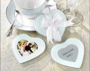cup mat wedding favor gift and giveaways for guest european style heart shape glass