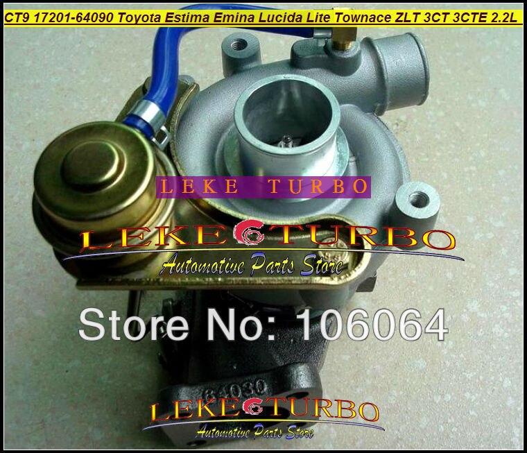 CT9 17201-64090 17201 64090 Turbo Turbocharger For TOYOTA Lite Townace Town ace Estima Emina Lucida ZLT 3CTE 3C-T 3CT 2.2L 90HP free ship ct9 17201 64160 17201 64160 1720164160 turbo turbocharger for toyota lite town liteace townace 3c t 3ct 3cte 2 2l 90hp