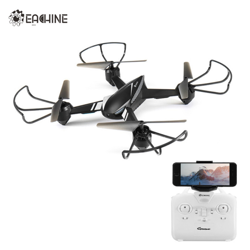 Eachine E32HW WiFi FPV With 720P HD Camera Altitude Hold One Key Return RC Drone Quadcopter RTF Mode 2 with LED new wifi fpv rc quadcopter with hd camera 2 4ghz remote control rc drone with led night light altitude hold mode 360 degree roll