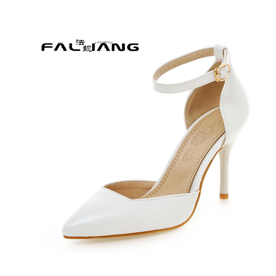 ФОТО Big Size 11 12 13 14 15 16 17 Shallow mouth Pure color the sexy women's shoes extreme high heels pumps woman for women