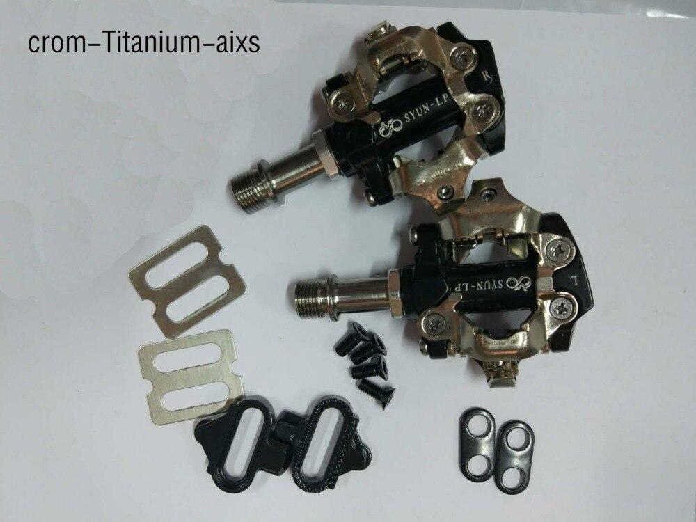 NOUVEAU SYUN cool prix meilleure vente crampons comprennent Titane/Cromo axe VTT ou rayonnages vélo de route clipless comme XT XTRR-M980 SPD pédale