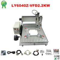 RU No Tax Engraving Drilling And Milling Machine LY CNC 6040Z VFD2 2KW Router