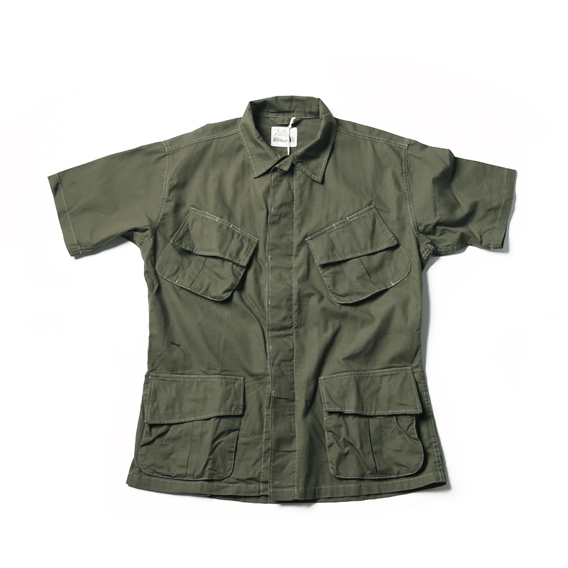 NON STOCK TCU Ripstop Slant Pocket Jungle Shirts Military Fatigue Short Sleeves(China)
