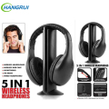 5in1 Wireless Audio-chat Auriculares Monitor de Auriculares Auriculares de Radio FM de Alta Fidelidad con el MIC Para PC TV DVD Audio Móvil Hogar Al Aire Libre MP3