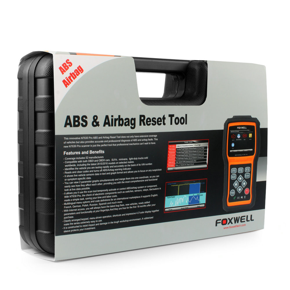 ABS Airbag Air bag SAS Reset Tool Foxwell NT630-14