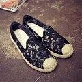 Женщины Плоские Туфли Бренд 2017 Весной Кружева Случайные Плоские Туфли Женские Обувь Для Ходьбы Женщины Лодка Обувь дамы schoenen