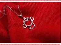 S925 Sterling Silver Necklace Wholesale This Year Monkey Love Necklace Fashion Explosion Silver Jewelry Pendants