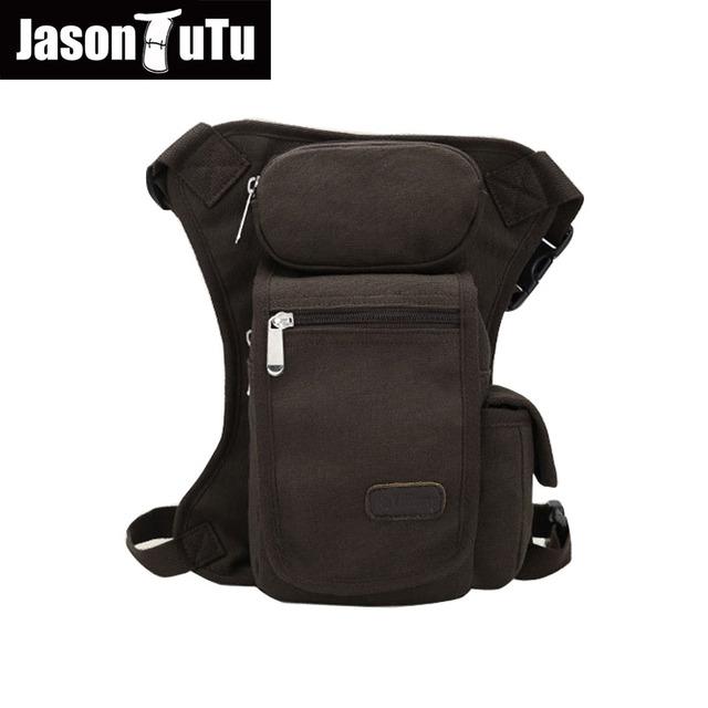 JASON TUTU saco cinto saco Da Cintura Multifunções Multi-bolso das mulheres Dos Homens de ombro Da Lona bolsa de perna Cáqui, preto, ArmyGreen FB1193