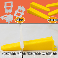 Free Shipping Tile Leveling System For The Flooring Spacer Level Tools Clips Included 100pcs Wedges And