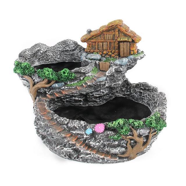 WINOMO Fairy Resin Planter Modern Garden Miniature Sweet House Cottage  Flowerpot DIY Bonsai Pots For Succulent