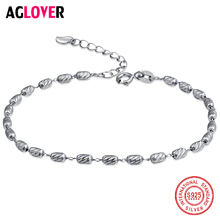 New Special Price 925 Silver Silver Bead Bracelet With 4.3*2.5mm Bracelet DIY Silver Bracelet Women Jewelry beauties of emperor epozz nature gemstone series new quartz watch women 925 silver bead jewelry watches pearl bracelet h0721s1