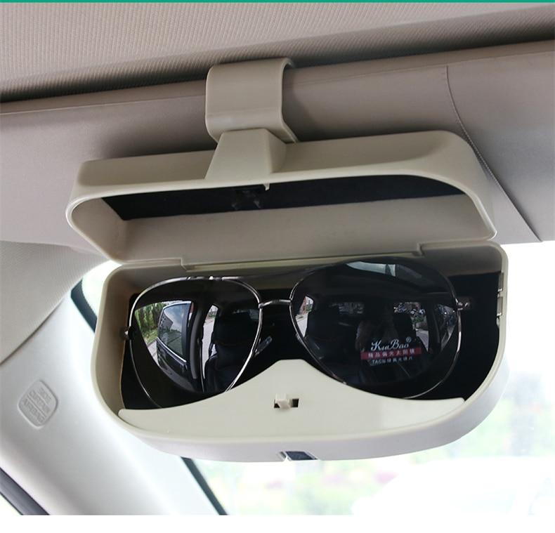 Grey In Car Sun Visor PU Leather CD Disc Storage Bag Glasses Holder Media Case