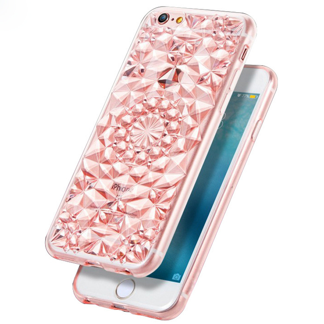 3D Diamond Texture Cover Back Case for iphone