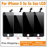 Top Quality Screen With No Dead Digitizer For IPhone 5S LCD Display Black White