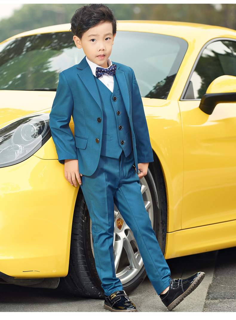 2018 5pcs Boys blazers kids Boys suits for weddings Prom Suits ...