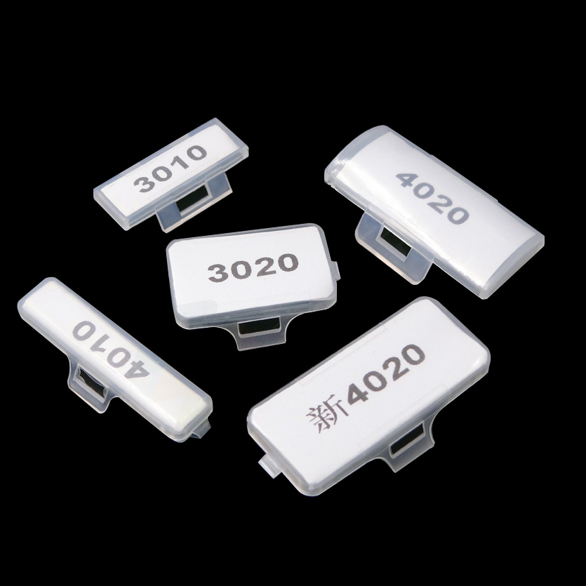 500pcs 200pcs 50pcs 10x31mm 20x31mm 10x43mm 19.1x41mm Transparent Plastic Cable Name Ticket Label Sign Tag Holder Case plastic