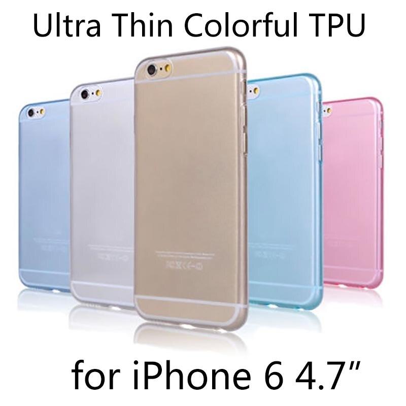 6/6S супер гибкая ясности TPU чехол для iPhone 6 6S Slim Кристалл задняя защитить кожу резиновая чехол телефона fundas силиконовый Гель Чехол