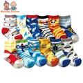 Envío libre/12 par/lote algodón calcetines de Bebé calcetines del piso de goma antideslizantes de dibujos animados niño pequeño $ number-$ number babyatws0001