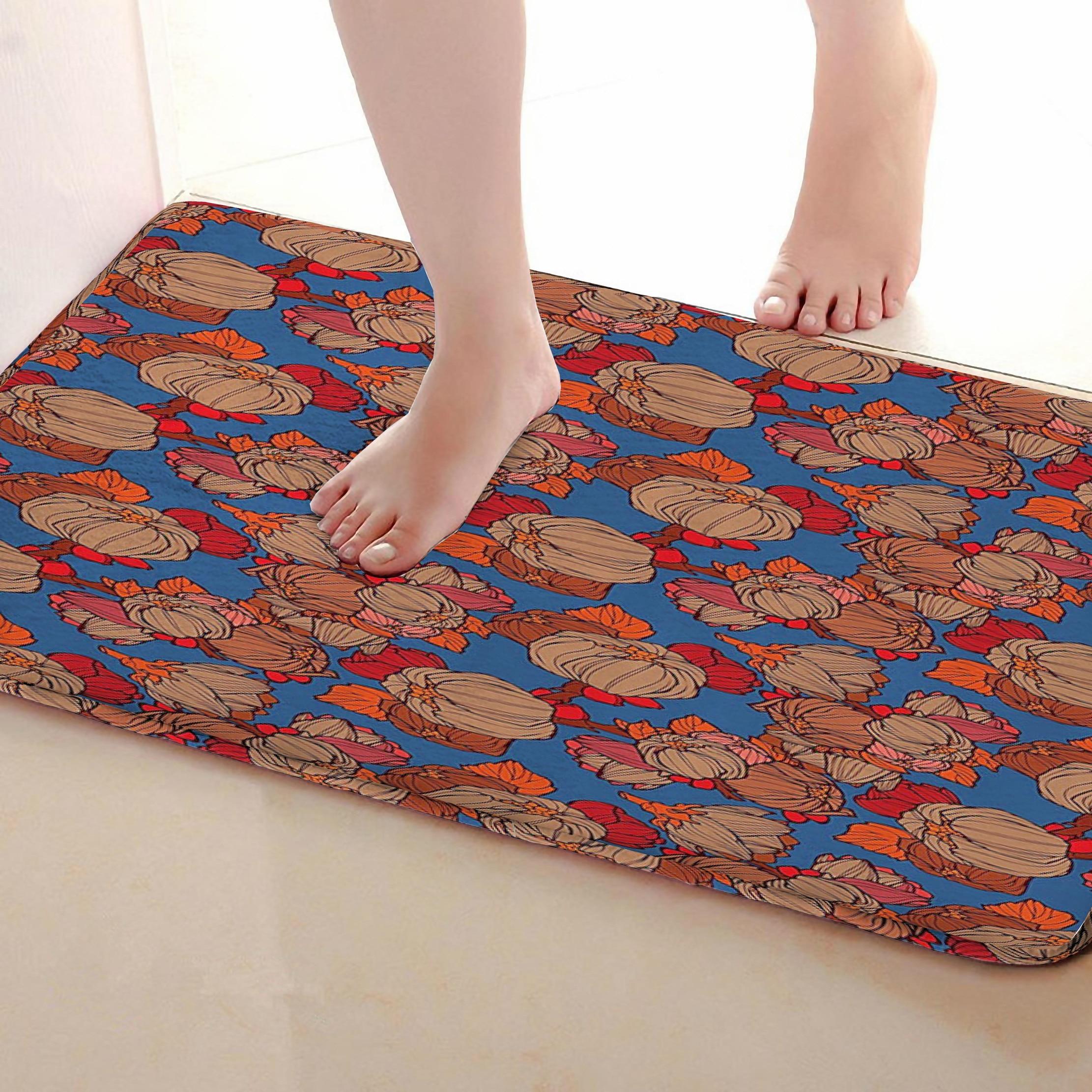 Flower Style Bathroom Mat,Funny Anti Skid Bath Mat,Shower ...