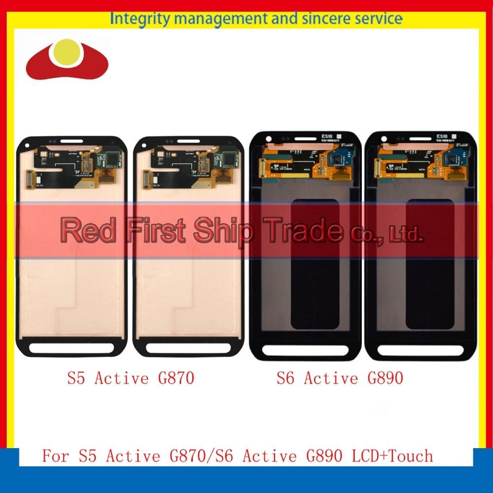 10 шт./лот DHL для Samsung Galaxy S5 Active G870 S6 Active SM G890A G890 ЖК дисплей сенсорный экран планшета Ассамблея Полный