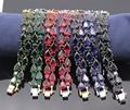 Fashion Bracelet Charm Gold Filled Colorful Crystal Bracelet 7colors