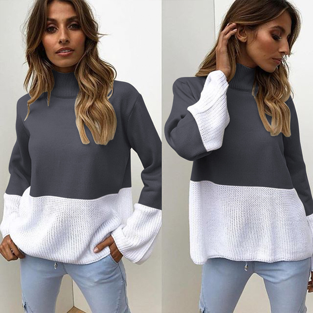 ZOGAA Winter Pull Sweaters Women 2019 Fashion Loose Jumpers High collar Pullovers Knitting Pullovers Thick Christmas Sweater
