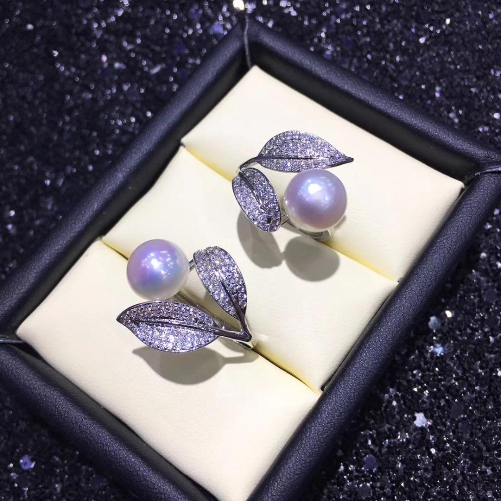 Pierścienie perłowe, pierścienie, regulowany pierścień biżuteria ustawienie części akcesoria Charm akcesoria biżuteria srebrna w Wykończenia i elementy biżuterii od Biżuteria i akcesoria na  Grupa 1