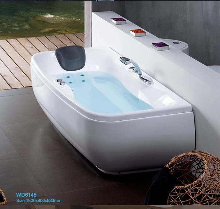 Right Skirt Fiber glass Acrylic whirlpool bathtub Hydromassage Tub Nozzles Spary jets spa RS6145