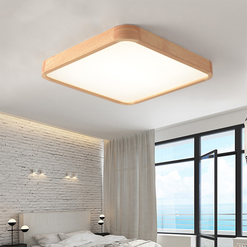 Wooden LED ceiling lighting ceiling lamps for the living room chandeliers Ceiling for the hall modern ceiling lamp high 7cmWooden LED ceiling lighting ceiling lamps for the living room chandeliers Ceiling for the hall modern ceiling lamp high 7cm