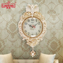 TUDA European fashion watch art creative wall clock pendulum clock mute elephant living room decorative Watch