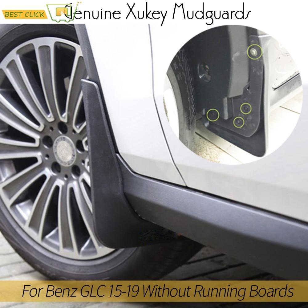 RKRLJX Car Fender Mudflaps Fit For Mercedes Benz GLC Class X253 2016-2019 WO//RB Mud Flaps Splash Guards Mudguards Mud Flap Front Rear Fender