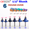 6PC 1 4 Shank High Quality Round Over Router Bit Set 1 2 3 8 5