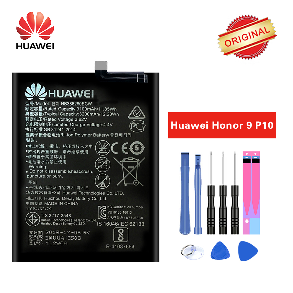 Hua Wei Battery HB386280ECW For Huawei Ascend P10 Honor 9 Mobile Phone Batteria
