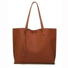 Women Messenger Bags Leather Casual Fringe Solid Handbags Female Designer Bag Vintage Big Size Tote Shoulder Bag Quality 5.27D