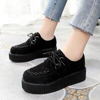 LAKESHI/Женская обувь на толстой подошве; большие размеры 41; обувь на плоской платформе; женская повседневная обувь на плоской подошве со шнуро...