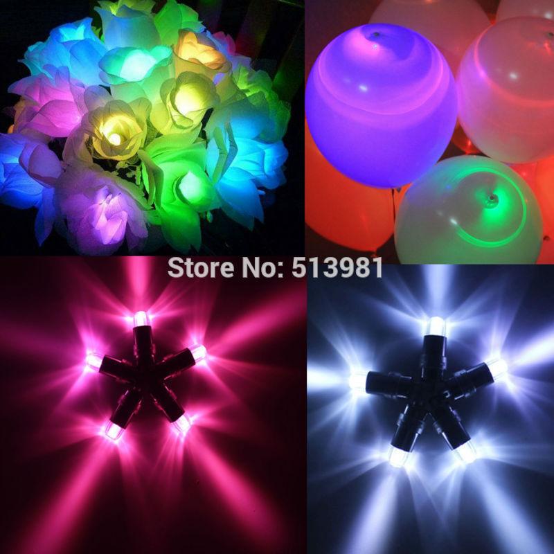 10 tanches lumires mini party led pour des lanternes des ballons floral mini led - Ballon Phosphorescent Mariage