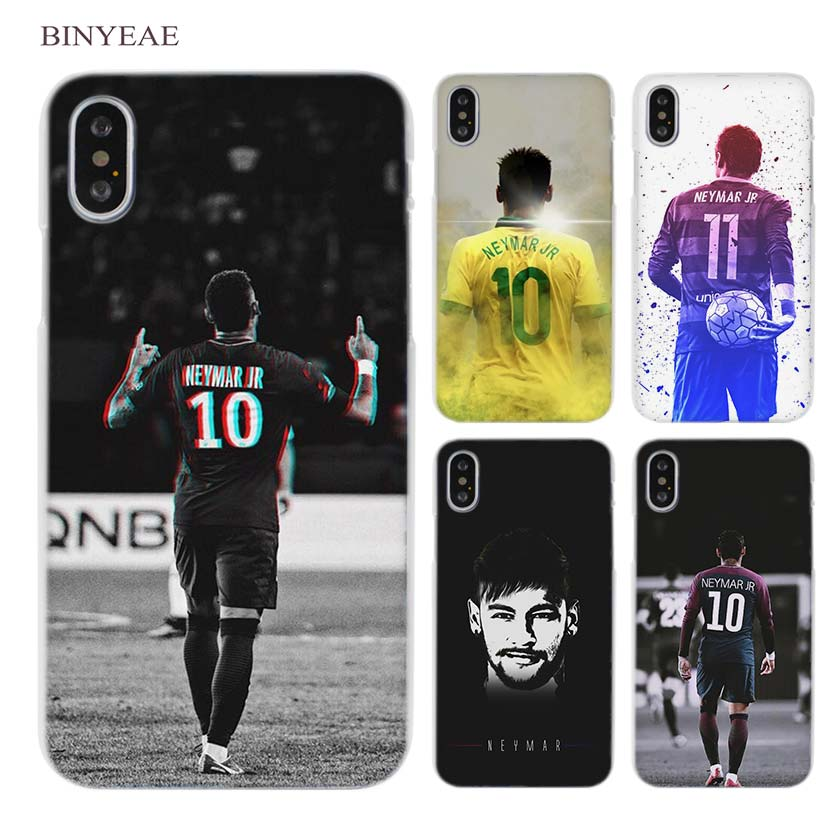 BINYEAE Neymar JR General Number 11 Clear Cell Phone Hard Case Cover for iPhone X 6 6s 7 8 Plus 5 5s SE 5c 4 4s number